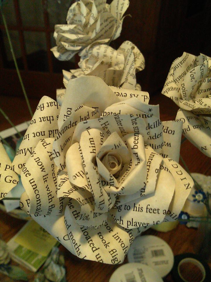 flowers made from love note gift for bride or groom
